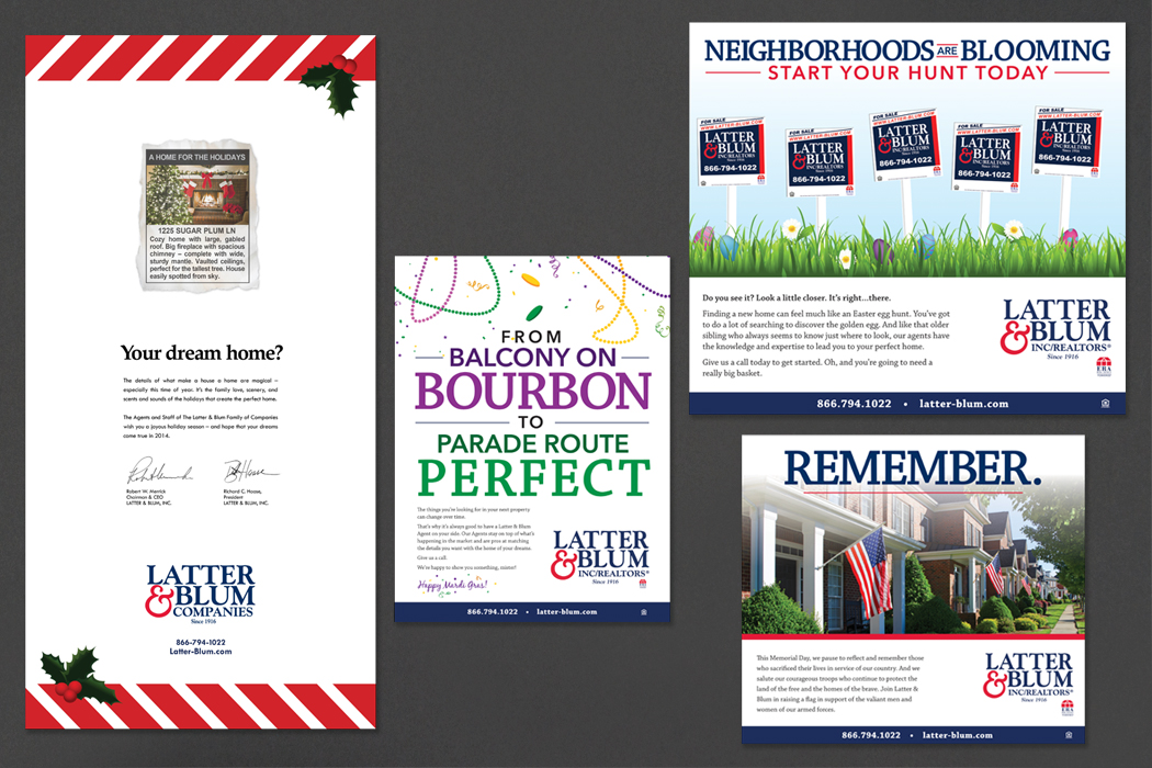 Latter & Blum Inc / Realtors | Holiday Ads portfolio