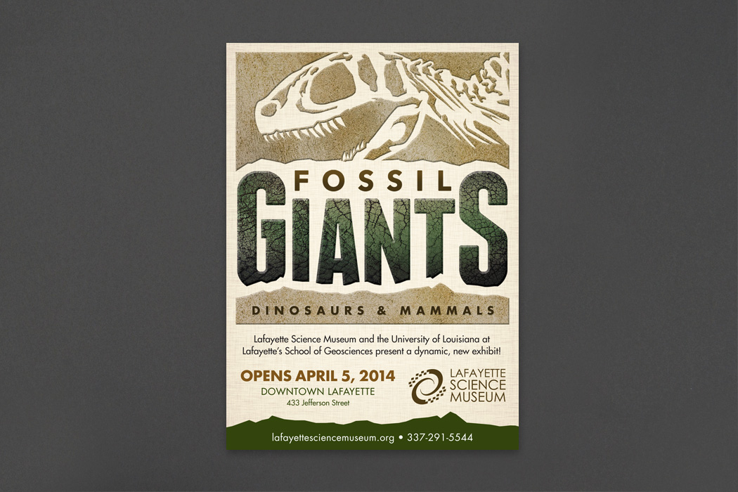 Lafayette Science Museum | Fossil Giants Exhibit portfolio