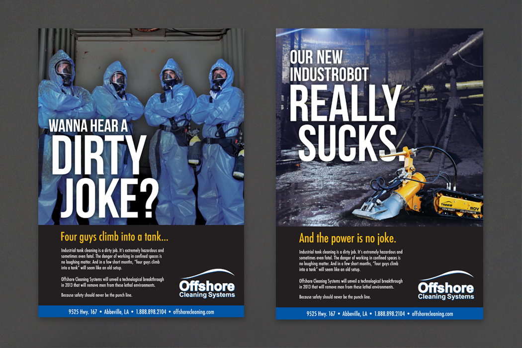 Offshore Cleaning Systems | Ad Campaign portfolio