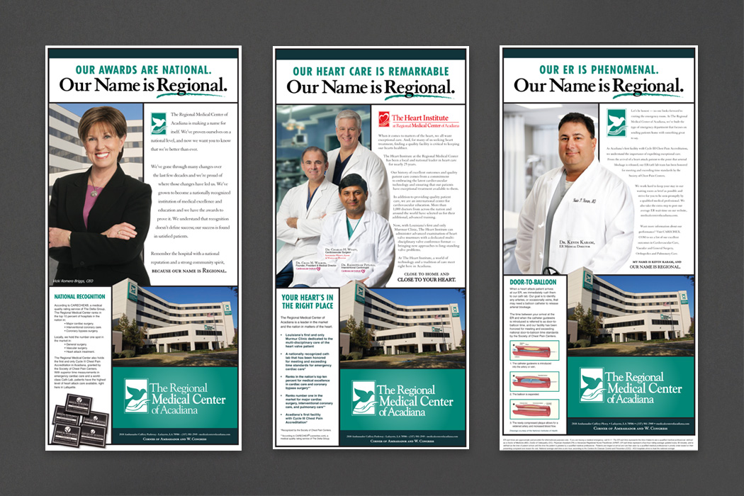 Regional Medical Center of Acadiana | Our Name is Regional Ad Campaign portfolio