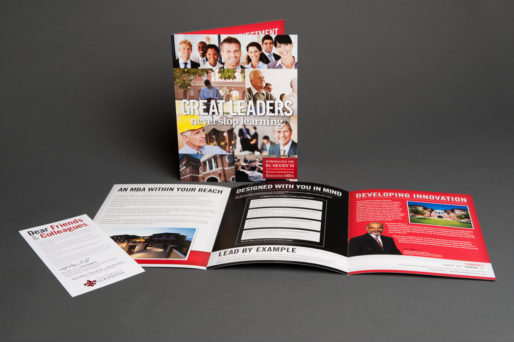 University of Louisiana at Lafayette | Executive MBA Brochure portfolio