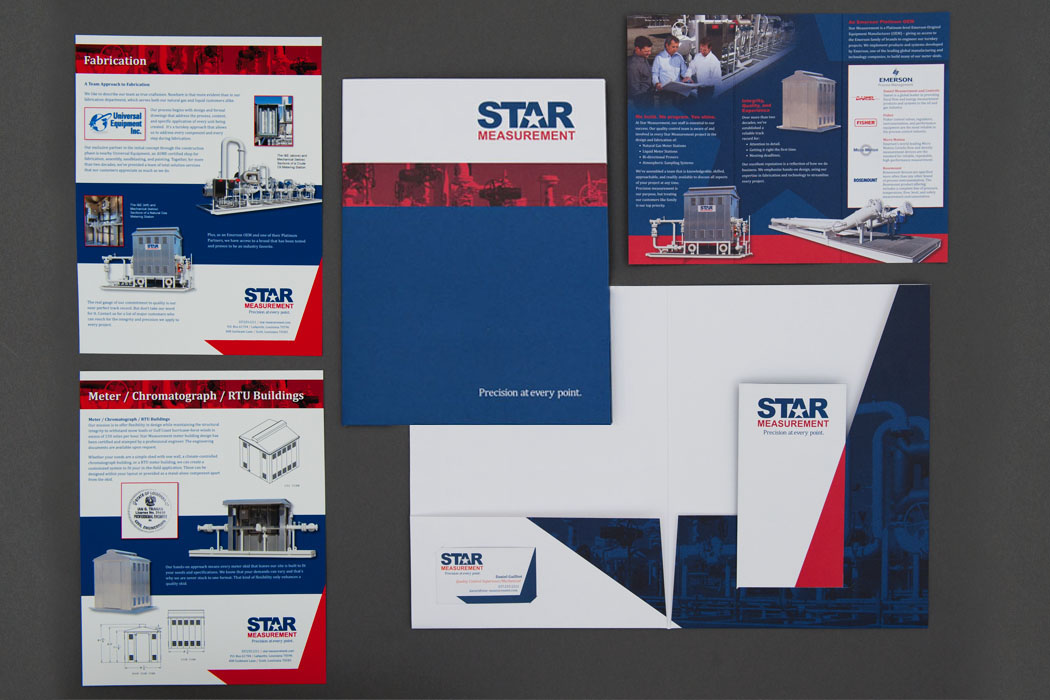 Star Measurments | Brochure, Pocket Folder, & Inserts portfolio
