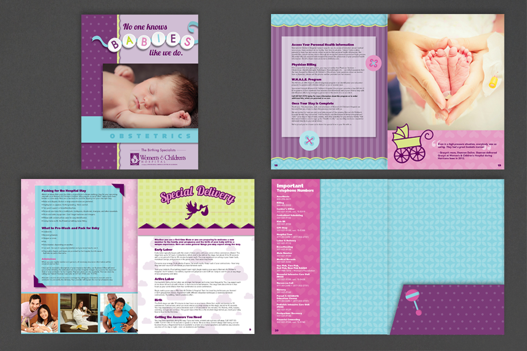Women's & Children's Hospital | Obstetrics Brochure portfolio