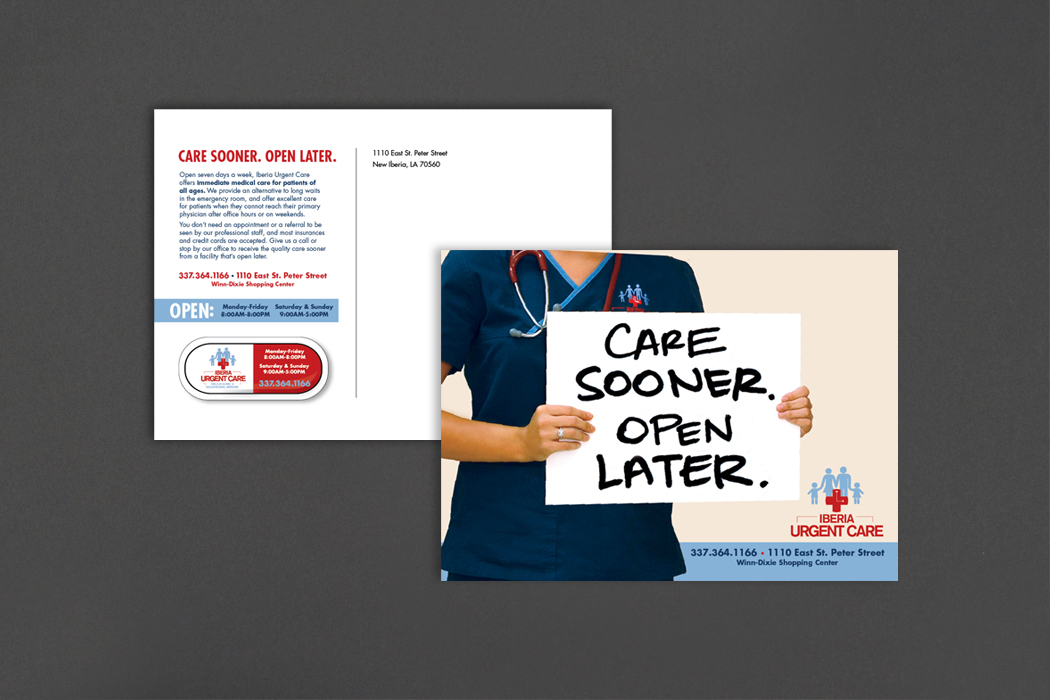 Iberia Urgent Care | Postcard with Magnet portfolio