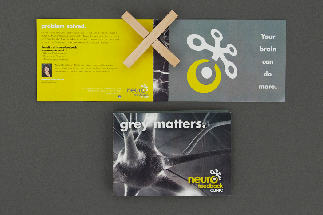 Neurofeedback Clinic | Brain Teaser Direct Mail portfolio