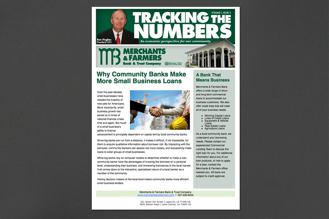 Merchants & Farmers Bank | Newsletter portfolio