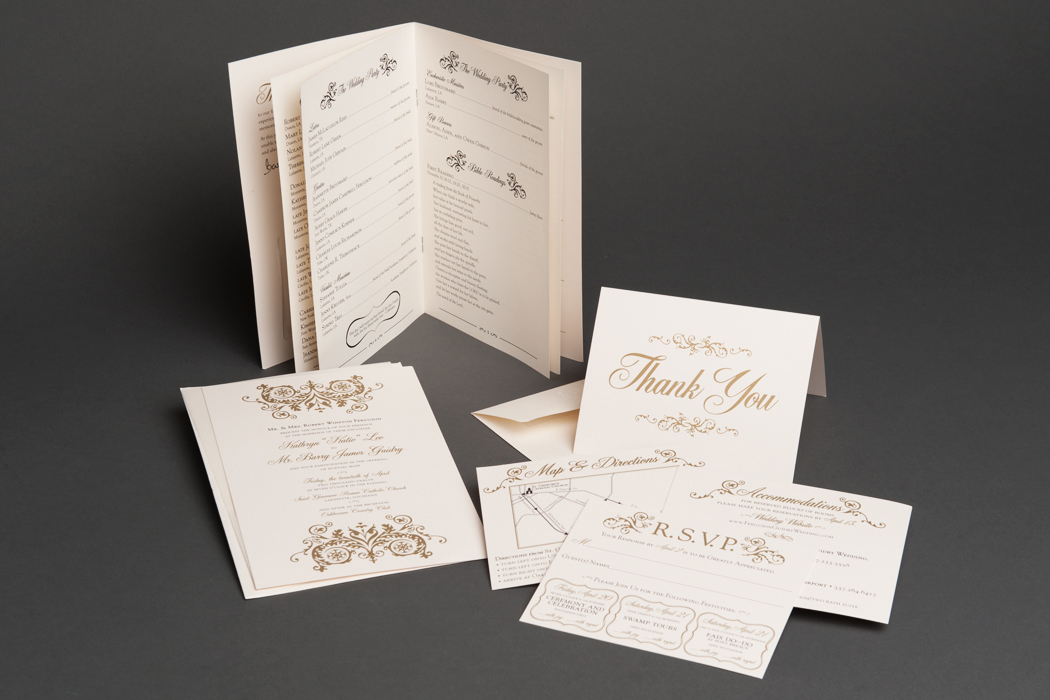 Guidry Wedding | Invitation and Materials