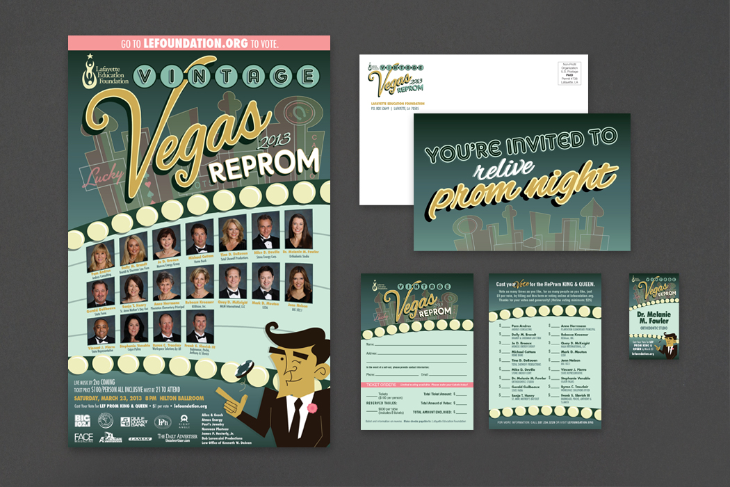 Lafayette Education Foundation | ReProm 2013 Invitation & Materials portfolio