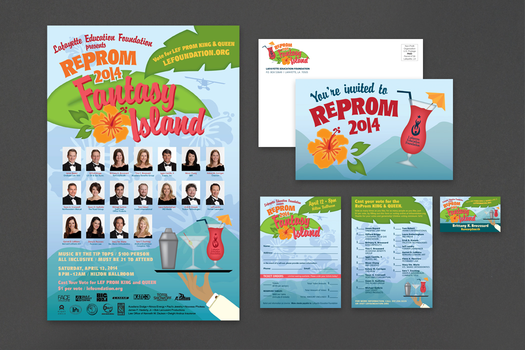 Lafayette Education Foundation | ReProm 2014 Invitation & Materials portfolio