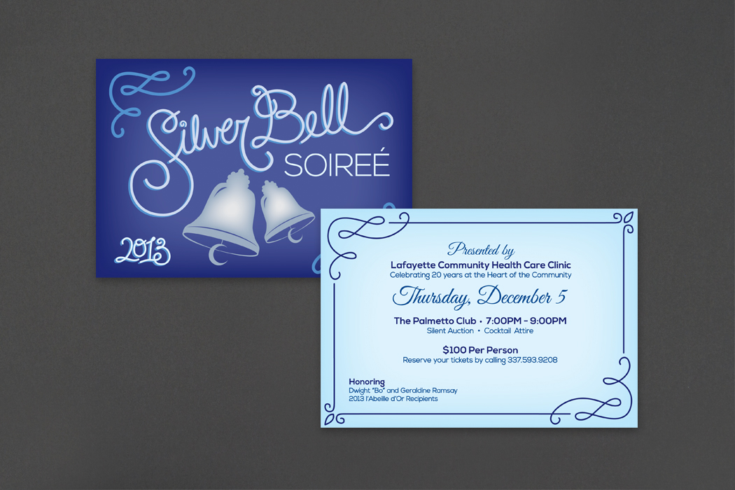 Lafayette Community Health Care Clinic | Silver Bell Soiree Invitation portfolio