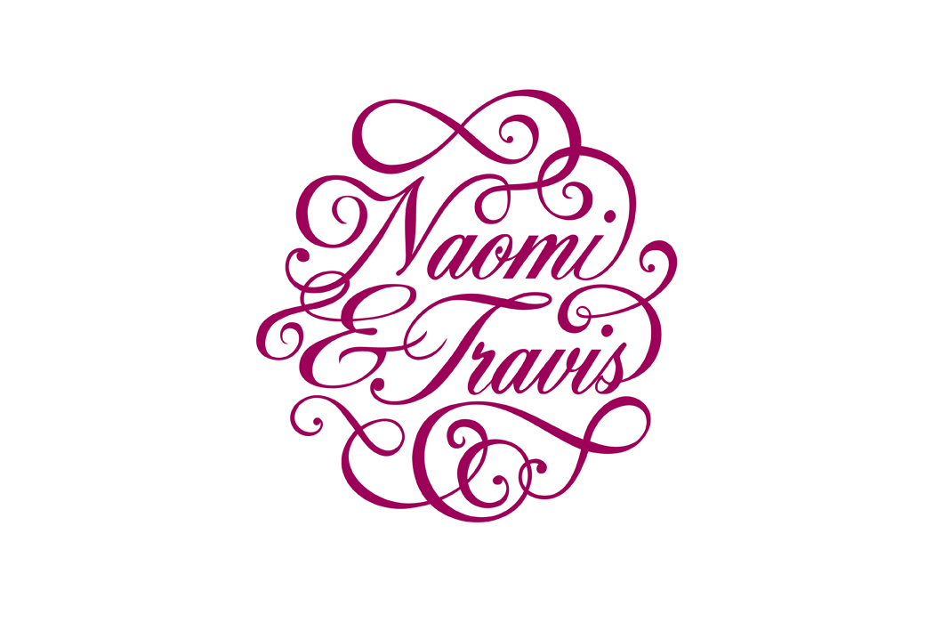 Wedding monogram for Naomi and Travis