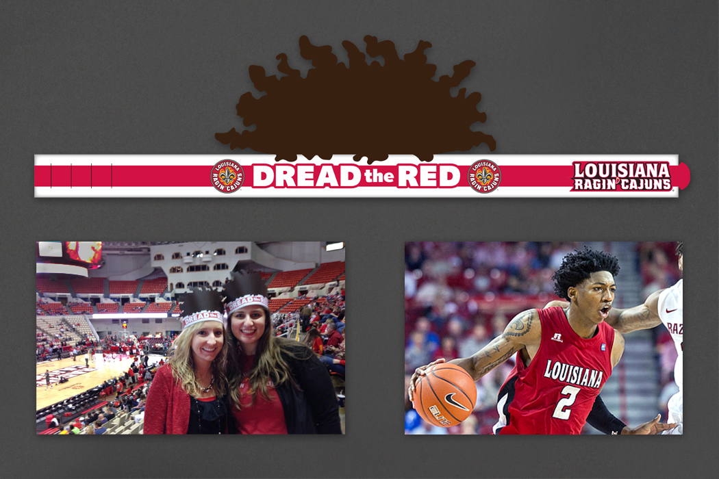 University of Louisiana at Lafayette Rajin' Cajuns Basketball Team | Dread the Red Headband portfolio
