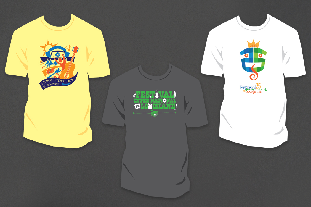 Festival International de Louisiane | T-shirt Design portfolio