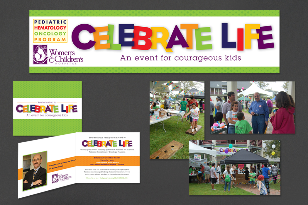 Women's & Children's Hospital, Celebrate Life | Event Branding and Invitation