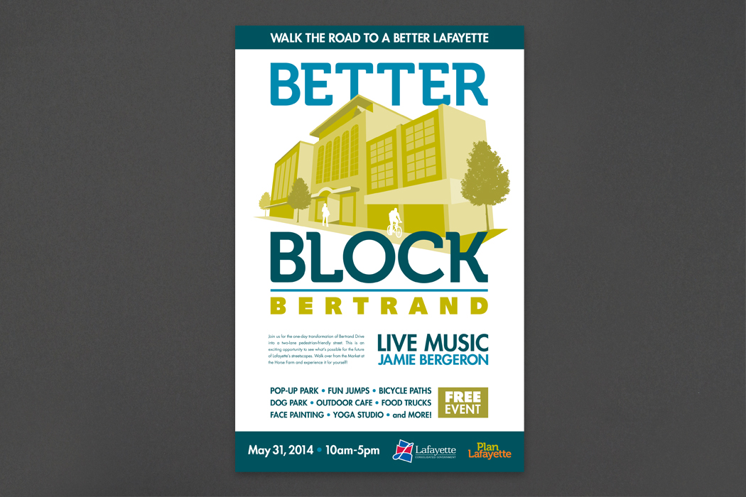 Better Block Bertrand | Event Poster portfolio