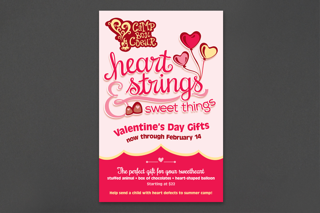 Camp Bon Coeur | Heart Strings & Sweet Things Valentine's Day Fundraiser portfolio