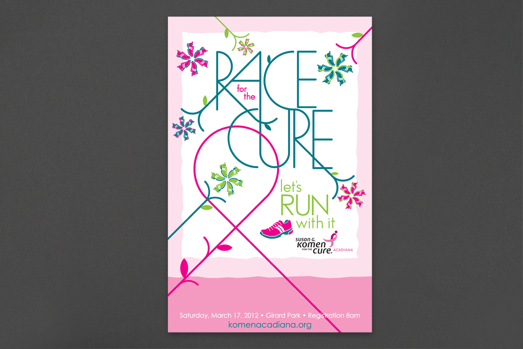 Susan G. Komen for the Cure, Acadiana | Race Poster portfolio