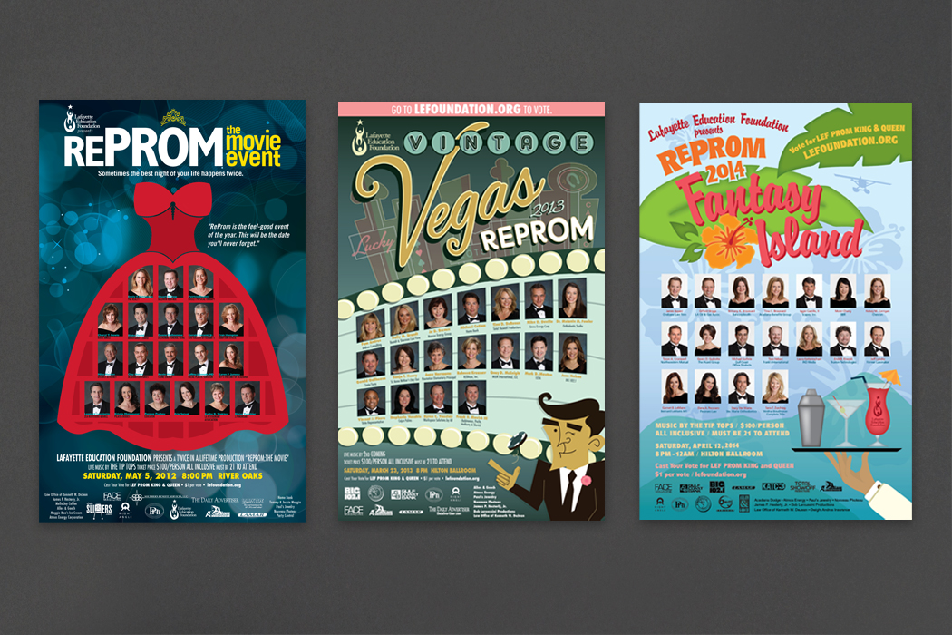 Lafayette Education Foundation | ReProm Posters portfolio